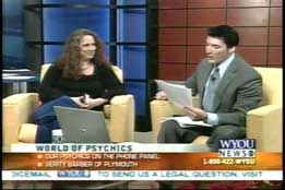 Christiana reads for callers live on WYOU in Pennsylvania